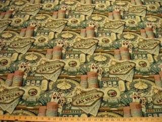 Regal Las Vegas Casino tapestry upholstery fabric ft855