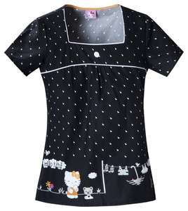 Scrubs Cherokee Print Top Hello Kitty Rain 6743CB HKLI Buy 3 Ship $6