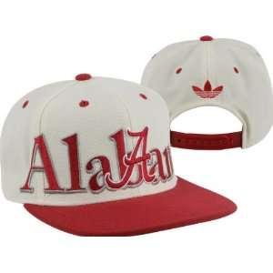 Alabama Crimson Tide adidas White Crown Snapback Hat