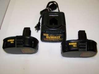 DEWALT 18 Volt Cordless Tool Set Combo Drill Sawzall Impact Driver