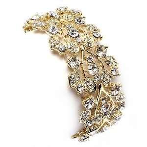Bridal Wedding Jewelry Crystal Rhinestone Floral Leaf Vine
