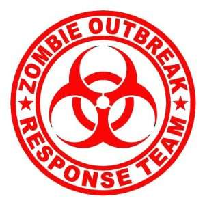 Zombie Outbreak Response Team   Vinyl Decal Sticker   3.5 RED by Ikon