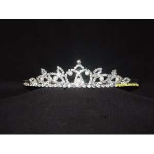 Bridal Bridesmaid Prom Tiara Crystal Rhinestone Wedding Veil 00007