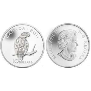 Canada 2011 $10 Peregrine Falcon Silver Proof Coin: Toys & Games