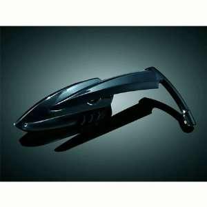 Kuryakyn 1760 Gloss Black Scythe Mirrors For Harley