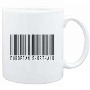 Mug White  European Shorthair BARCODE  Cats  Sports