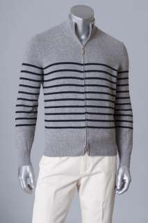 1560 BRUNELLO CUCINELLI SWEATER 100%CASHMERE PLUSH 4 PLY FULL ZIP XL