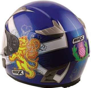 BOX BZ 1 SALTIRE MOTORCYCLE MOTORBIKE HELMET X LARGE