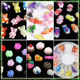 Decoration 3D Fimo U Pick Style Stickers Decals Wheel Salon DIY
