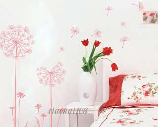 New Beautiful Dandelion DIY Removable Wall Art Deco Decal Sticker Wall