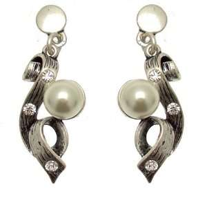 Acosta Jewellery   Faux Pearl & Crystal   Antique Finished