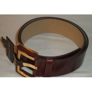 Adrienne Vittadini Womens Brown Leather Fashion Belt with