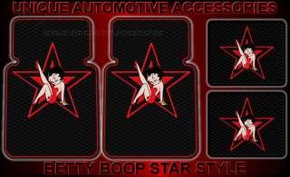 4PC BETTY BOOP STAR FRONT REAR CAR FLOOR MATS