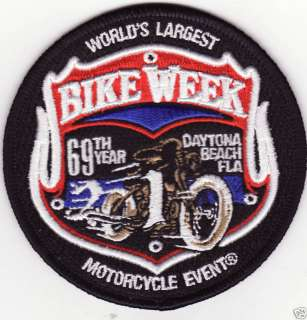 2010 Daytona Bike Week Official Motorcycle Patch *New*