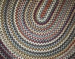 NEW Braided Rug BEACON PINE HILL Midnight 5x8 Navy Blue $300