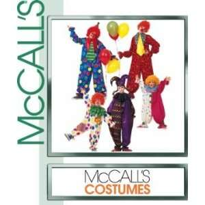 McCalls Costume Sew Pattern 3306 CLOWN COSTUMES Boys and Girls Size 7