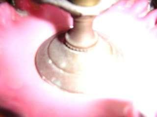 antique FENTON GLASS VASE LAMP chic+shabby VICTORIAN