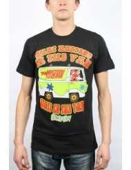 Scooby Doo   Mens Stays in the Van T Shirt in Black