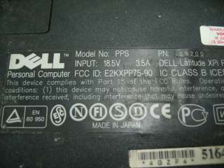 Dell Latitude XPi PPS Laptop Computer