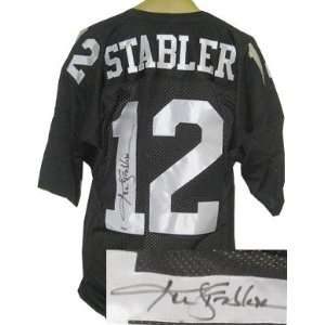 Ken Stabler signed Oakland Raiders Black Russell Athletic