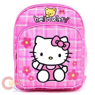 Sanrio Hello Kitty School Backpack Toddler Bag 10 Pink Flowers with