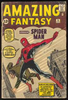 Amazing Fantasy #15, 1st Spider Man, 1962, Nice Book!