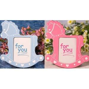 Rocking Horse Picture Frame   Pink or Blue: Electronics