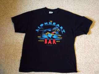 RICHARD LIONHEART BAR large T shirt ALGARVE horse logo SPAIN pub