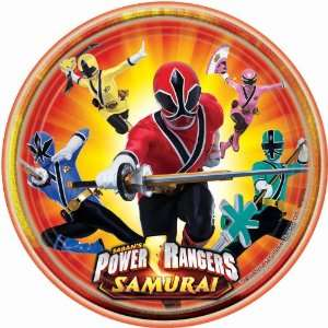 Party By Amscan Power Rangers Samurai Dinner Plates