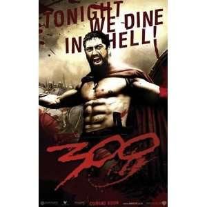 300 Frank Miller Gerard Butler One Sheet Movie Poster 27 x