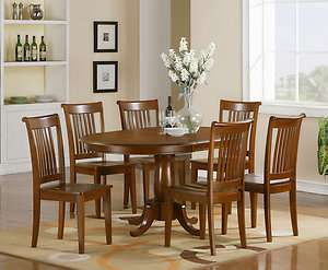 PC OVAL DINETTE DINING ROOM SET TABLE AND 6 CHAIRS