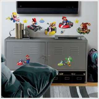 New NINTENDO MARIO KART Wii WALL DECALS Game Room Decorations Stickers