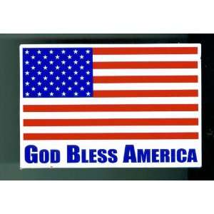 God Bless America. American Flag Magnet. 5 1/2 wide x 3/34 high.