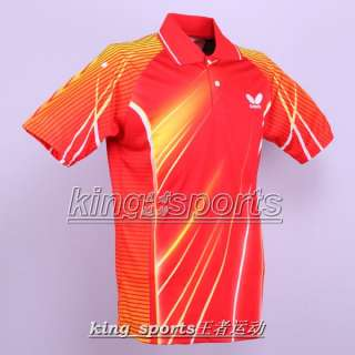 New Butterfly Mens 2012 Badminton /Tennis polo shirt 4 colour 4512