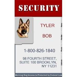 SECURITY Badge   1 Dogs Custom ID Badge   Design#4