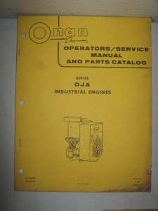 Onan DJA Industrial Engines Service Operator & Parts Manual Book