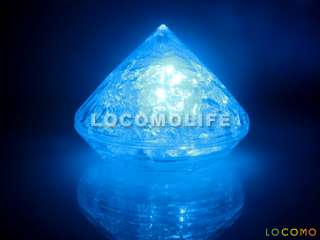 12 Blue LED Diamond Lamp Wedding Decoration Favor Light