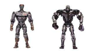 Real Steel Deluxe Feature 8 Figures Wave 1 Set Of 2 Atom & Zeus