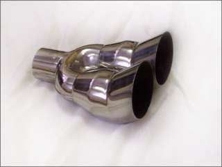 Dual 3.5 angled stainless steel exhaust tip