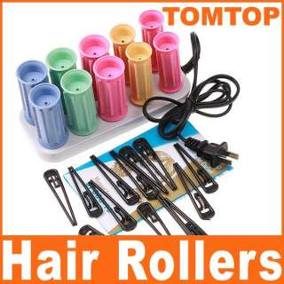 Electric Hair Curlers Rollers Perm Set Ceramic Heater 10 Rollers 13