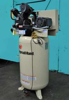 INGERSOLL RAND 7.5 HP VERTICAL AIR COMPRESSOR