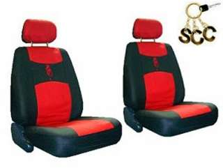NEW RED BLACK DRAGON CAR TRUCK SUV BUCKET SEAT COVERS COVER