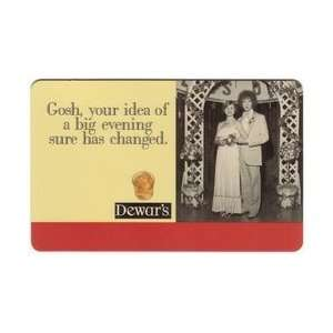 Collectible Phone Card 5m Dewars Scotch Whisky Couple Dressed For A