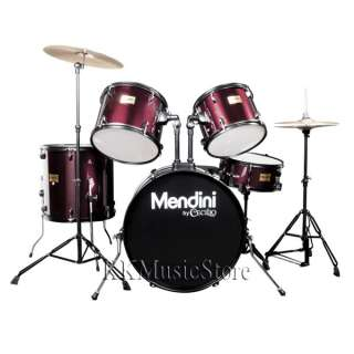 Mendini Full Size 5 Pcs Drum Set +Cymbal+Stool~6 Color