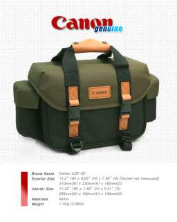NEW Canon LCB 02 SLR DSLR Camera Bag 7D 50D 40D 500D