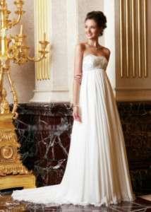 Elegant Strapless Chiffon Bridal Gown/Wedding Dress