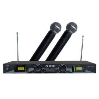RSQ VHF 4020 Dual Ch VHF Wireless Microphone System New
