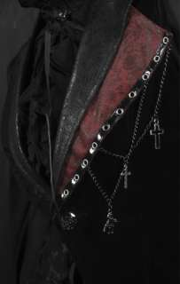 UNISEX Gothic punk rave visual kei rock cross lace coat jacket blazer