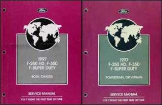 1997 Ford F250 F350 F 350 Super Duty Truck Shop Manual