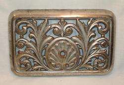 Antique Cast Iron Heating FURNACE GRATE Fancy Design Victorian Vintage